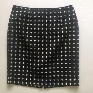 White House Black Market Dot Pencil Skirt